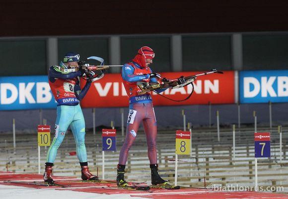 Сборная России по биатлону стала четвёртой в смешанной эстафете