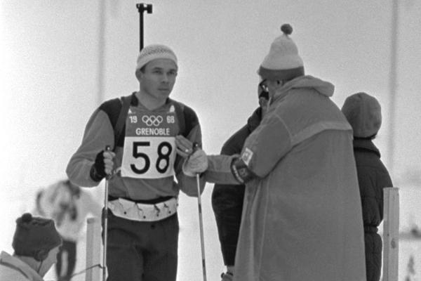 Виктор Маматов на Олимпийских играх в Гренобле, 1968 г.