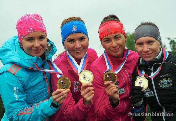 Югорские спортсмены выиграли чемпионат Российской Федерации полетнему биатлону вмужской эстафете