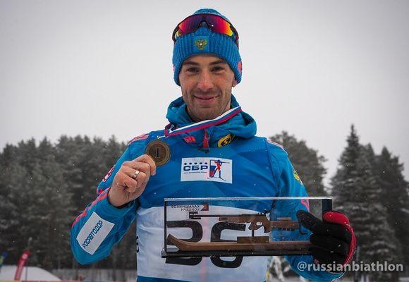 Биатлонист Юрий Шопин одержал победу персональную гонку навсероссийских соревнованиях