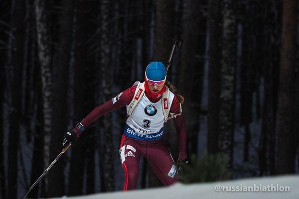 Русские биатлонистки провалили спринт надомашнем этапе Кубка мира